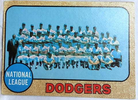 1968 Topps Los Angeles Dodgers Team #168. Nice card for almost 60 Years old!, CardboardandCoins.com