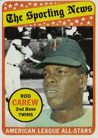 1969 TOPPS ROD CAREW (HOF) #419 ALL-STAR SET BREAK CLEAN CARD ABOUT NM TWINS