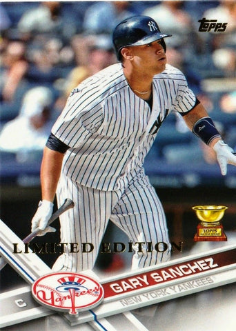 """LIMITED EDITION"" GARY SANCHEZ ROOKIE CARD 2017 TOPPS #7 YANKEES JUST 1000 MADE, CardboardandCoins.com"