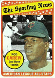 1969 TOPPS ROD CAREW (HOF) #419 ALL-STAR SET BREAK CLEAN CARD ABOUT NM TWINS, CardboardandCoins.com