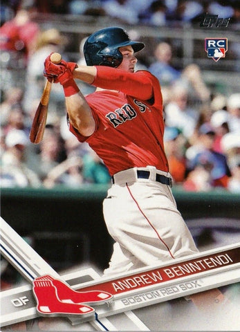 ANDREW BENINTENDI ROOKIE RED-SHIRT SET VARIATION SP 2017 TOPPS #283 RED SOX RC!, CardboardandCoins.com