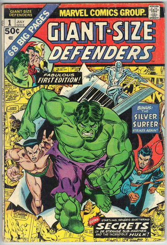 Defenders, Giant Size, 1, Marvel, Silver Surfer, Hulk, Dr. Strange, Doctor Strange, Comic Book, Comics, Vintage, Book, Collect, Trading, Collectibles