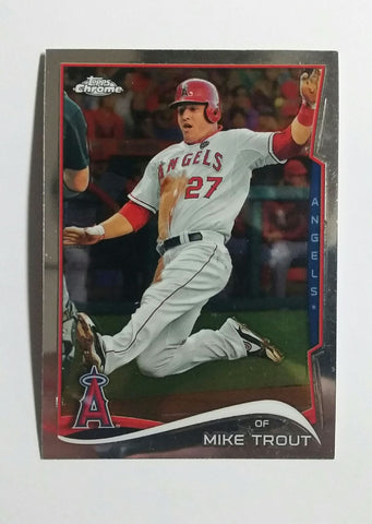 2014 Topps Chrome #1 Mike Trout, Nice card. See scans!, CardboardandCoins.com