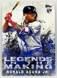 2018 Topps Update Ronald Acuna Jr Rookie #LITM-1 Legends Making, Braves, ROY
