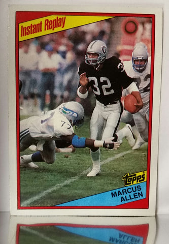 Marcus Allen, Running Back, RB, Raiders, Los Angeles, Rushing, Yards, Receiving, NFL, Topps, Football Card, 1984