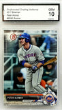 "Graded 10! Pete Alonso Rookie 2017 Bowman #BD-83 Mets ""Polar Bear"" ROY"