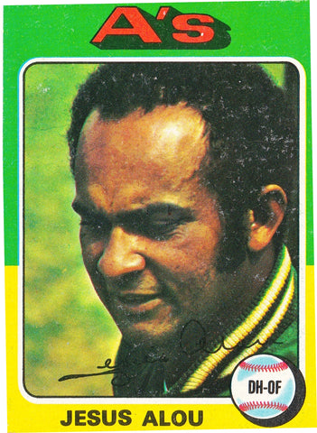 1975 TOPPS MINI #253 JESUS ALOU A's, ATHLETICS DH-OF * SET BREAK! *