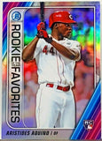 Aquino, Rookie, Refractor, Aristides, Bowman, Chrome, ROY Favorites, Insert, Cincinnati, Reds, Punisher, Slugger, Home Runs, RC, Baseball Cards