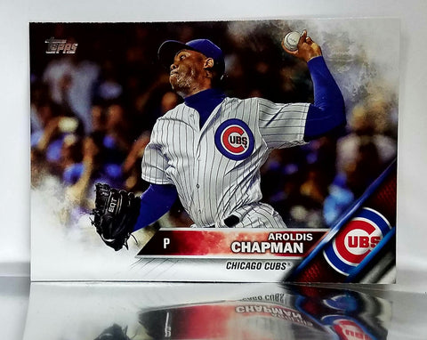 2016 Topps Update #US145 Aroldis Chapman Pitcher World Series Cubs, Yankees, CardboardandCoins.com