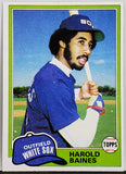 1981 TOPPS HAROLD BAINES ROOKIE CARD (HOF) #347 CHICAGO WHITE SOX NEWEST HOF MEMBER 2019
