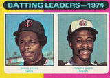 1975 TOPPS MINI #306 BATTING LEADERS ROD CAREW (HOF) & RALPH GARR SET BREAK!