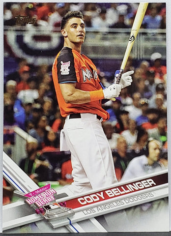 Cody Bellinger Rookie 2017 Topps Update #US300 Dodgers ROY, HR Derby