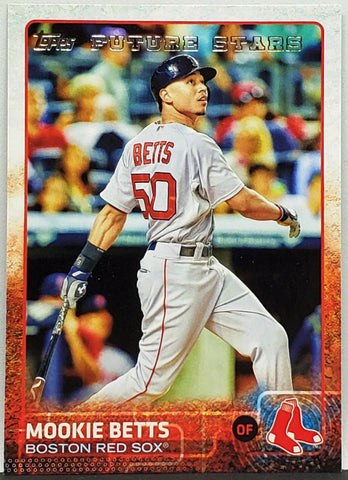 Mookie Betts Rookie Future Star 2015 Topps #389 Red Sox, MVP, Dodger