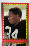 Bo Jackson, Rookie, Topps, Stickers, Superstar, Running Back, Los Angeles Raiders, James Jones, Touchdowns, TDs,  NFL, Football Card