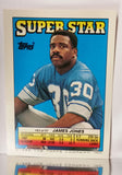 1988 Topps SuperStar Bo Jackson RARE ROOKIE CARD (Football), Raiders, James Jones on Reverse, Mint, CardboardandCoins.com
