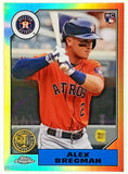 Bregman, Rookie, Chrome, Topps, Refractor, Baseball Cards