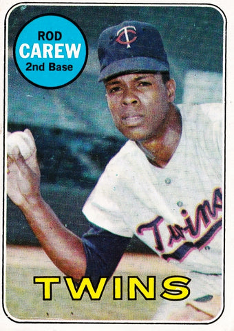"1969 TOPPS ROD CAREW (HOF) #510 SET BREAK CLEAN CARD ABOUT NM TWINS ""GRADE ME"""