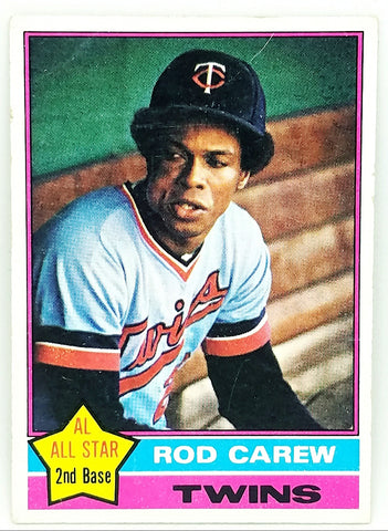 1976 TOPPS ROD CAREW (HOF) #400 SET BREAK CLEAN CARD MINNESOTA TWINS BATTING SUPERSTAR