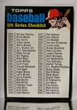 Checklist, 5th Series, Set, Baseball Card, Topps, 1971