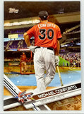 HOT CAMO PARALLEL SP MICHAEL CONFORTO 2017 TOPPS UPDATE #US168 SERIAL #'D 25/25