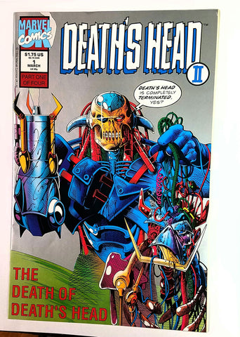 Death's Head II, 1, Marvel, 1st Appearance Minion, A.I.M., UK, Comic Book, Comics, Vintage, Book, Collect, Trading, Collectibles