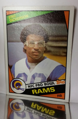 Eric Dickerson, Rookie, Topps, Running Back, Los Angeles, Rams, HOF, NFL, Topps, Football Card