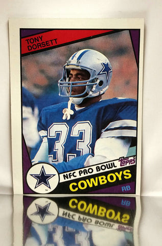Dorsett, Tony, Cowboys, Dallas, Running Back, RB, Rushing, Receiving, Passing, Yards, Football Cards, Topps, 1984