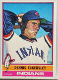 1976 Topps Dennis Eckersley ROOKIE CARD, Pitcher, Cleveland Indians, Card #98, CardboardandCoins.com