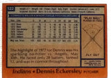 1978 Topps #122 Dennis Eckersley, Indians, Graded 7.5 NM+, CardboardandCoins.com