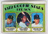 1972 TOPPS CARLTON FISK (HOF) & CECIL COOPER ROOKIE CARD #79 BOSTON RED SOX
