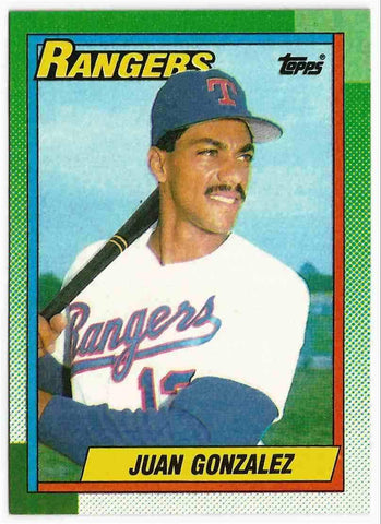 1990 Topps #331 Juan Gonzalez Rookie 2 x MVP, Rangers, High-Demand!