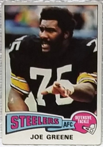 "1975 Topps #425 ""Mean"" Joe Greene, DT, Pittsburgh Steelers, Graded NM, CardboardandCoins.com"