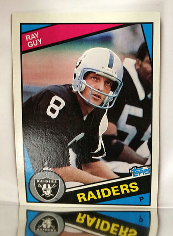 Guy, Ray, HOF, Punter, Field Goal, Punting, Raiders, Los Angeles, NFL, Topps, Football Card