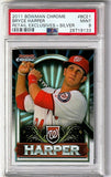 PSA 9 BRYCE HARPER ROOKIE CARD! 2011 BOWMAN CHROME SILVER REFRACTOR #BCE1