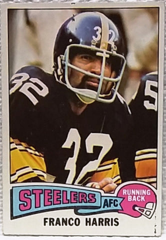 1975 Topps #300 Franco Harris, RB, Pittsburgh Steelers, Graded Ex-NM
