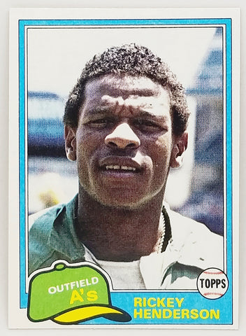 1981 TOPPS RICKEY HENDERSON 2ND YEAR CARD (HOF) #261 SET BREAK CLEAN CARD OAKLAND ATHLETICS/A'S STOLEN BASE KING