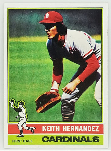 1976 TOPPS KEITH HERNANDEZ #542 SET BREAK CLEAN CARD ST. LOUIS CARDINALS 1986 METS WORLD SERIES
