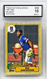 1987 TOPPS #170 BO JACKSON ROOKIE CARD GRADED 10 MINT RC ROYALS BASEBALL AND NFL FOOTBALL STAR