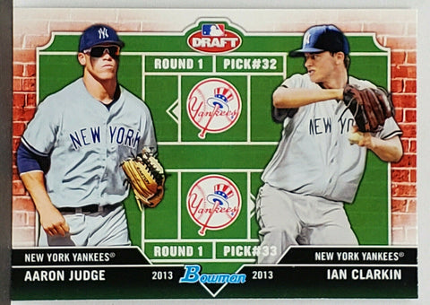 Judge, Rookie, Aaron, Bowman, Draft, Dual Draftees, New York, Yankees, ROY, All Rise, Home Runs, Ian Clarkin, Topps, RC, Baseball Cards