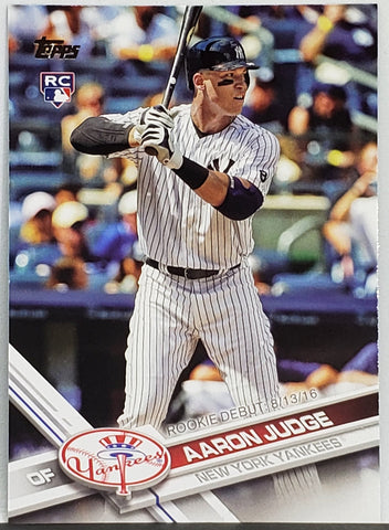Aaron Judge Rookie Debut 2017 Topps Update #US99 New York Yankees, ROY