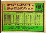 Steve Largent, HOF, Wide Receiver, WR, Seahawks, Seattle, Receiving, NFL, Topps, Football Card