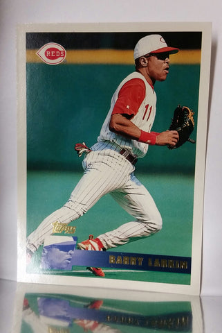 Larkin, Barry, Reds, Cincinnati, Shortstop, HOF, Hits, Eric Davis, Baseball Cards, Topps, 1996