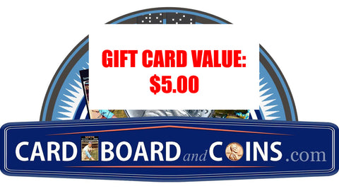 CardboardandCoins.com Gift Cards, Perfect for Coin, Card, and Comic Collectors