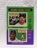 1975 Topps #194 1956 MVPs Mickey Mantle & Don Newcombe, Graded 7 NM, CardboardandCoins.com