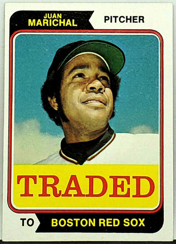 Marichal, HOF, Pitcher, Red Sox, Topps, Traded, Giants, Set Break, Baseball Cards