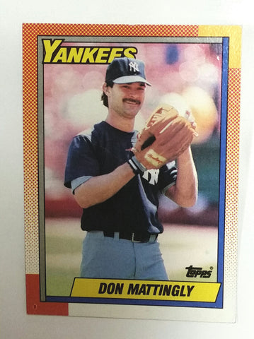 Mattingly, Don, 1st Base, Jeter, Mantle, Yankees, New York, Baseball Cards, Topps, 1990