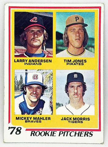 1978 TOPPS JACK MORRIS ROOKIE CARD (HOF) #703 NICE CARD DETROIT TIGERS ACE PITCHER