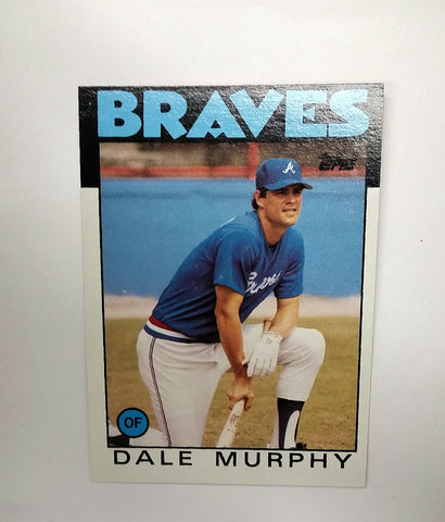 Dale Murphy, Braves, Atlanta, Chipper Jones, Baseball Cards, Topps, 1986