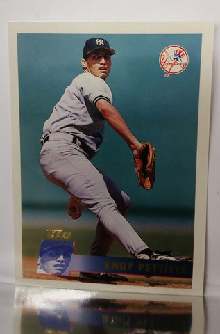 Pettitte, Andy, Yankees, New York, World Series, Playoffs, Post-Season, Pitching, Wins, Rookie Card, RC, Baseball Cards, Topps, 1996
