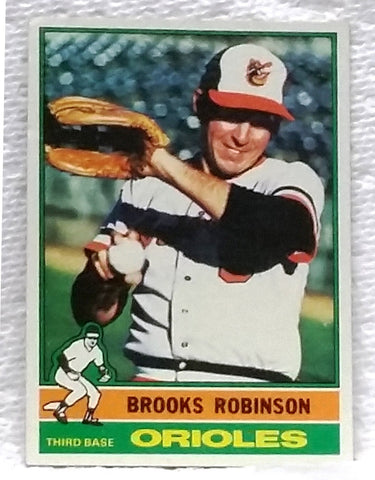 1976 Topps #95 Brooks Robinson, 3rd Base, Orioles, Gold Gloves, Graded 8 NM-MY, CardboardandCoins.com